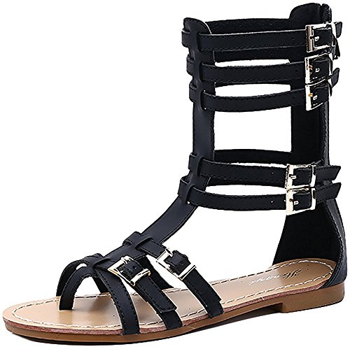 Sandali Infradito Gladiatore Open Toe Donna D2c Beauty Nero