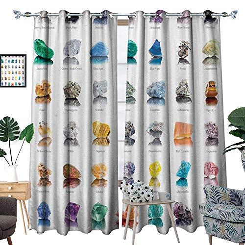 "luvoluxhome Blackout Curtain Patio Sliding Door Curtain for Living Room/Bedroom Magic Zen Chakra Home Shi Modern Bathroom Ideas Meditatial 72""X84.3"""