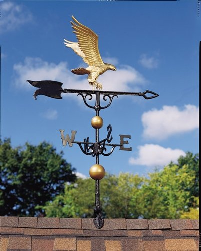 Whitehall Products Traditional Directions - Whitehall Products Full-Bodied Eagle Weathervane, 30-Inch, Gold/Bronze
