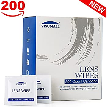 Lens Cleaning Wipes,Disposable, Quick Drying, Streak Free,Ndividually Wrapped, Cleansing Cloths Great for Eyeglasses, Tablets, Camera Lenses, Screens, ...