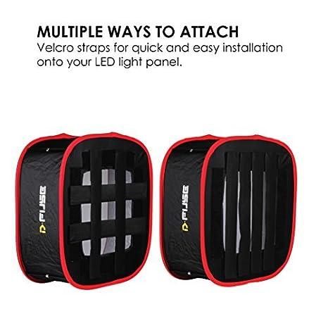 para D-Fuse Aputure Amaran Softbox port/átil Softbox Grid Kamerar Rejilla para D-Fuse Aputure Amaran Panel de luz LED Softbox: Plegable Studio c/ámara de fotograf/ía Video