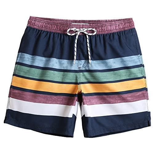 "MaaMgic 7"" Swim Shorts Mens Quick Dry Swim Trunks with..."