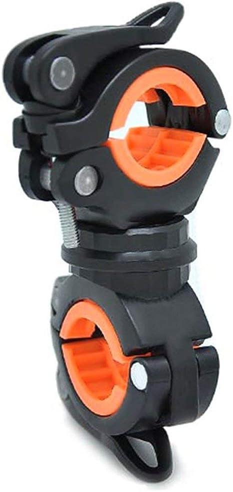 Supporto per Montaggio a Luce a LED per Bicicletta Universale Morsetto a Clip per Torcia Ciclismo Supporto per Torcia a Rotazione a 360 /° Equitazione