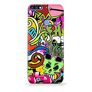 AMC Design Huawei Y6 Prime 2018 TPU Silicone Protective Case with Graffiti Hip Hop Design