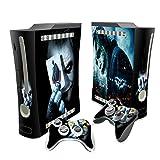 Designer Batman and joker- the dark knight skin sticker for xbox 360. System & Remote Controllers.