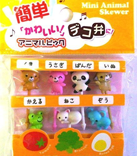 Food Picks for Bento Box Decoration Accessories, Japanese Cute Kawaii Design,