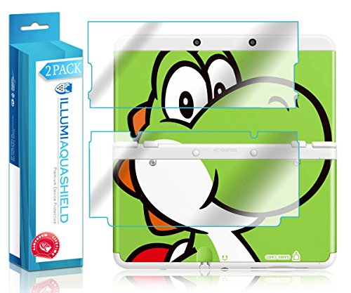 ILLUMI AquaShield Front + Back Protector Compatible with New Nintendo 3DS (Cover Plates)(2-Pack) HD Clear Screen Protector No-Bubble TPU Film