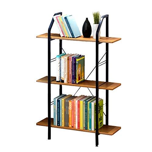 Bookshelf CHUNLAN Simple Shelves Environmental Safety Combination Simplicity Flower Stand Small Storage Shelf 8023.5121.5cm (Color : Black willow color 8023.5121.5cm)