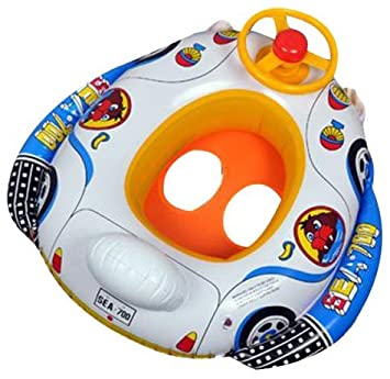 Amazon.com: Float For Baby - Wheel Horn Inflatable Kids Baby Pool ...