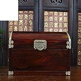 Red plain jewel case Redwood technology box solid wood jewelry box wood red rosewood jewelry box-A