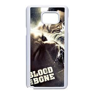 Blood And alta resolución hueso cartel Samsung Galaxy Note 5 del teléfono celular Caso funda blanca del teléfono celular Funda Cubierta EEECBCAAH76934