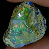 dadu_creation 28.25Cts.100% NATURAL FLASHING ETHIOPIAN OPAL ROUGH FINE QUALITY GEMSTONES