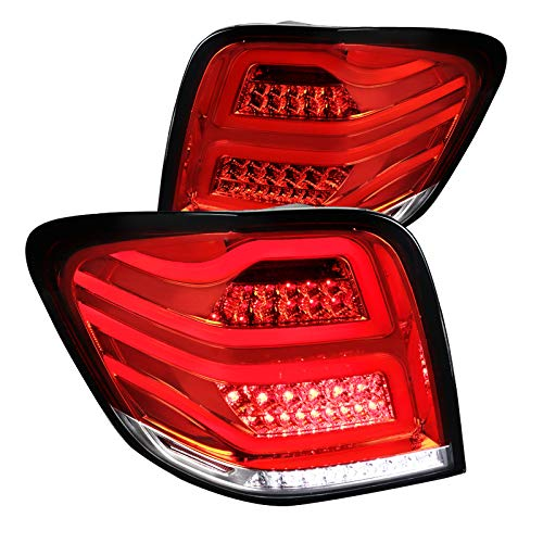 Red Mercedes Benz W164 ML-Class Full LED Tail Lights Rear Fog Brake Lamps Pair Class Led Tail Lights Lamps