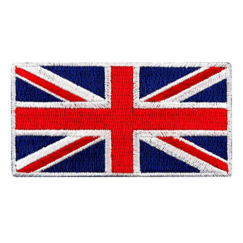 (British Union Jack Embroidered Patch England Flag UK Great Britain Iron-On Emblem)