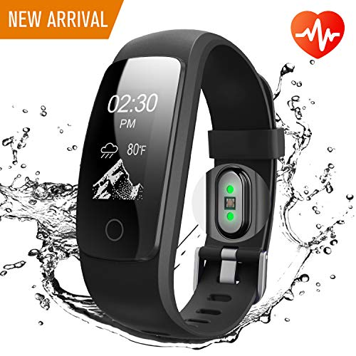 Runme Fitness Tracker, Sports Watch with Heart Rate Monitor, Activity Tracker with Step and Calorie Counter, GPS Tracker, Waterproof Smart Wristband for Android and iOS