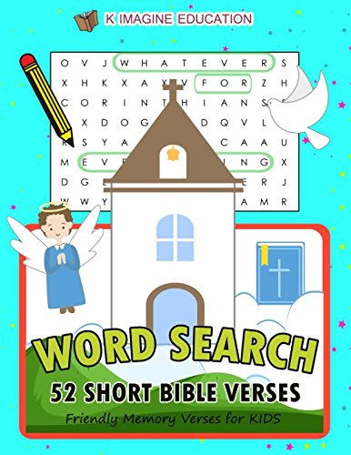 WORD SEARCH 52 Short Bible Verses: Friendly Memory Verses for Kids (first bible learning games) ebook
