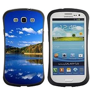Paccase / Suave TPU GEL Caso Carcasa de Protección Funda para - Nature Great Lake - Samsung Galaxy S3 I9300