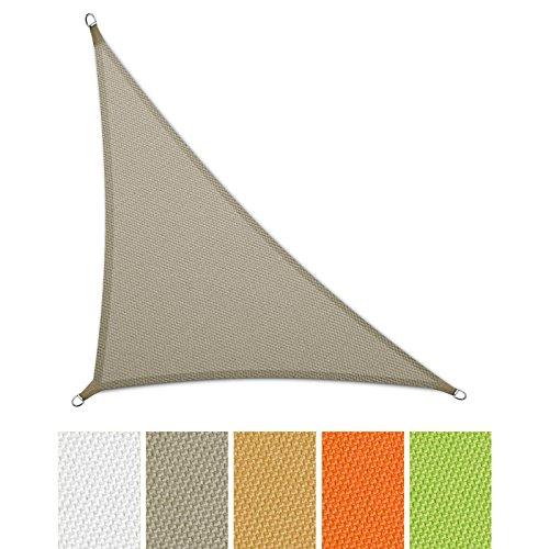 casa-pura-Sonnensegel-wasserabweisend-imprgniert-Dreieck-UV-Schutz-verschiedene-Farben-und-Gren