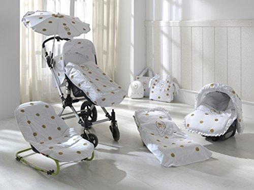 Colección Rosabel Damaris - Mochila para bebé, color blanco y plata