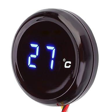 Motorrad Thermometer Digital 12v Wassertem Peraturanzeige Manometer Für Motorrad Blau Auto