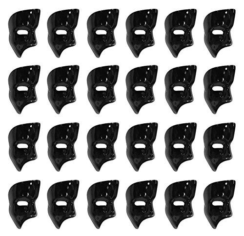 Beistle 60820-BK Phantom Masks (24 Pack), Black]()