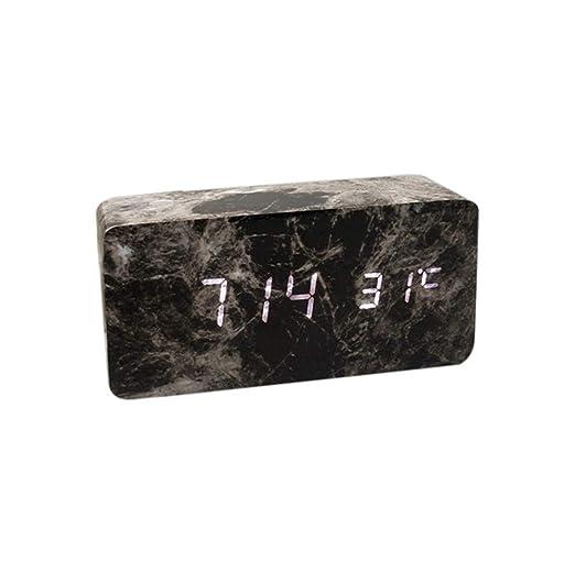 Hcfkj Cool Moderne Digital Led 3d Tisch Schreibtisch Nacht Wanduhr Alarm Uhr Digital Clock Display Sbk2