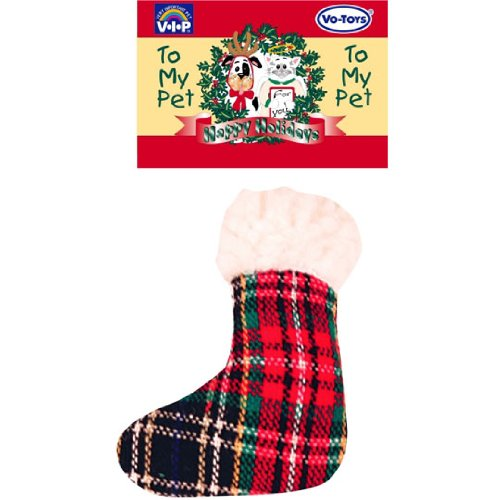 Christmas Plaid N' Fleece Sock