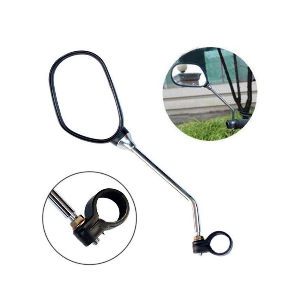 kimo 2 Pcs 360° Rotate Adjustable Universal Handlebar Rear View Mirror For Bike Bicycle Cycling Black by kimo (Image #3)