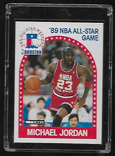 Michael Jordan 1989-90 NBA Hoops Basketball Card #21 - NBA All-Star Game - Stored in a Protective Plastic Display Case!!