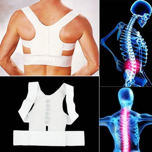 Neck Brace Halloween Costumes (Magnet Back Posture Correction Shoulder Support Brace Belt Features Of The Body Shield Material Ensures Maximum Breathability Easy To Apply)