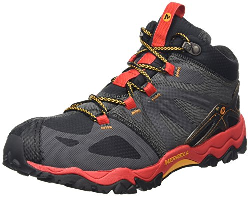 MerrellGrassbow Mid Sport GTX - Camminata nordica Uomo Nero (Black/Red)