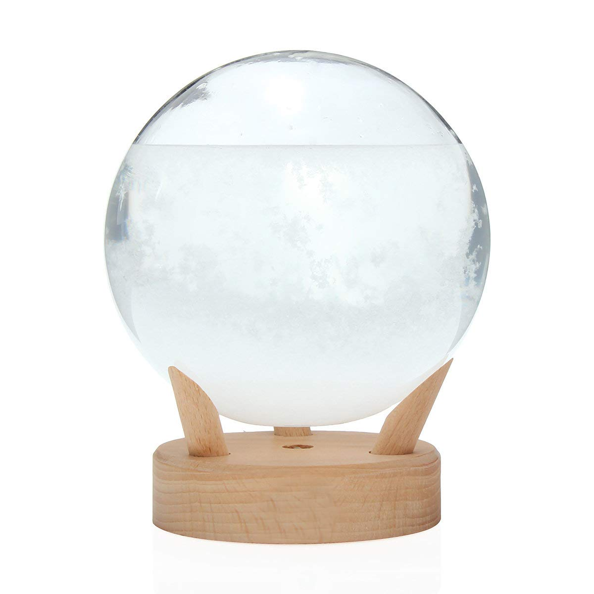 "Unique Gadgets & Toys Storm Glass Weather Forecaster Stylish Decorative Circular Shape Barometer (6"" H x 4.75"" D)"