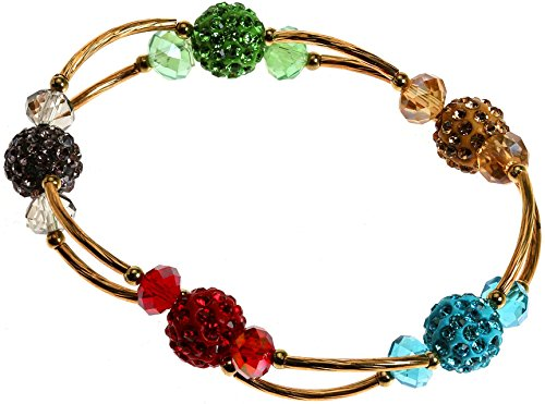 Royal Diamond Shamballa Inspired Stretch Bracelet (Multicolored) Multi Colored Rhinestone Bracelet