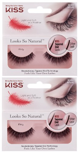 "37c89b46eec Image Unavailable. Image not available for. Color: NEW KISS ""Looks So  Natural"" FLIRTY Lashes ..."