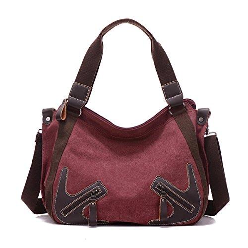 Frauen Vintage-Leinwand Messenger Ipad Schulter Handtasche Riemen Den Universellen Einsatz Tasche ,D-OneSize