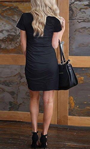 Maglietta Donna Nero Elevesee Vestito Vestito Donna Maglietta Elevesee dYHxqnZ