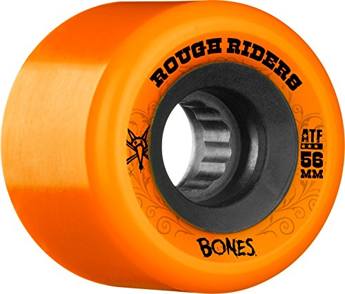 確認の中で頬Bones Wheels ATF Rough Rider 56mm Orange/Black Skateboard Wheels (Set of 4) by Bones Wheels