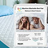Incontinence Bed Pads Washable Waterproof Mattress Protector, Reusable Pee Pads for Bed Wetting Toddlers, Adults, Elderly, Women Or Kids, Twin Waterproof Mattress Pad 34x52in