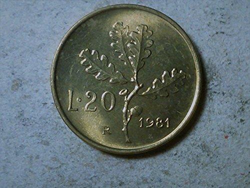 Italy 20 lire 1981