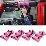 JeCar 4X Roll Bar Grab Handles Grip Handle for Jeep Wrangler YJ TJ JK JK JL JLU Sports Sahara Freedom Rubicon X & Unlimited 1955-2018(Pink): more info
