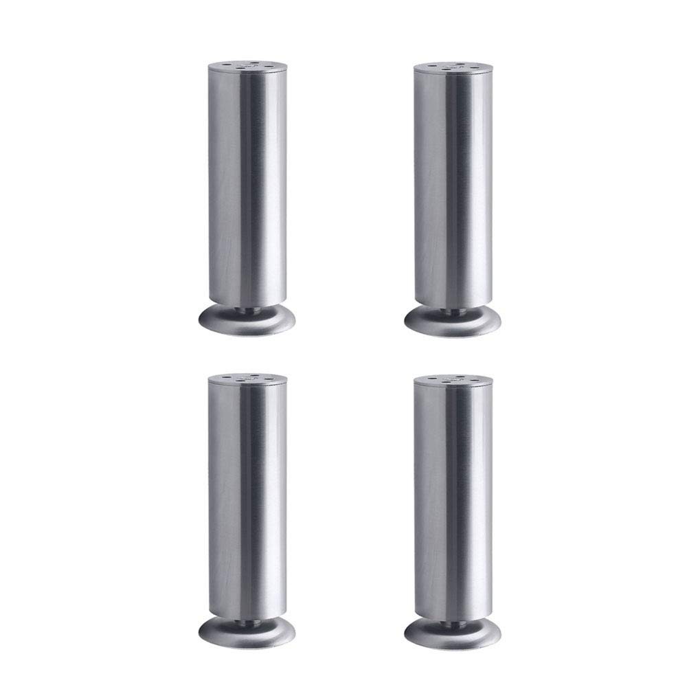 Stainless Steel Support Foot Furniture Foot pad Adjustable Cabinet Foot Bed Foot Coffee Table Foot TV Table Foot Furniture Accessories Silver Eight Sizes