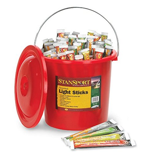 Stansport 100 Bucket Pack Safety Light Sticks, Assorted by Stansport