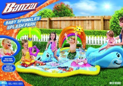Banzai Splish Splash Water Park, Multicolor Water Park Slide Splash