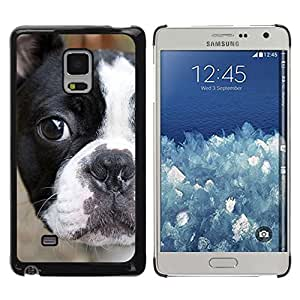 TopCaseStore / la caja del caucho duro de la cubierta de protección de la piel - French Bull Terrier American Bulldog - Samsung Galaxy Mega 5.8 9150 9152