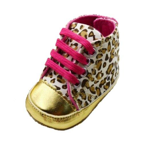 Zehui - Zapatos suaves y cálidos para bebés de 0-18 meses, diseño de leopardo