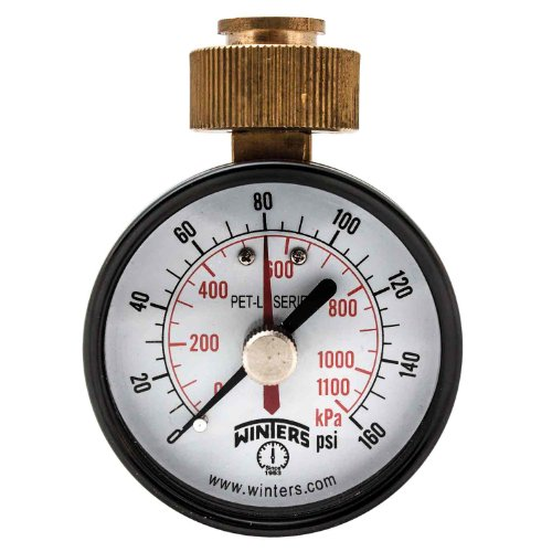 Precision Test Gauge (Winters PETM213LF PETM-LF Series Pressure Gauge, 2.5