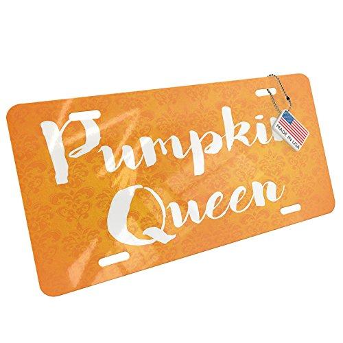 NEONBLOND Pumpkin Queen Halloween Orange Wallpaper Aluminum License Plate -