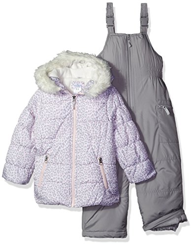 f166df06e57 Galleon - Carter's Girls' Little 2-Piece Heavyweight Printed Snowsuit, Cozy  Pink Leopard/Dove Grey, 5/6