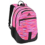 adidas Foundation III Backpack, Twister Shock Pink Print/Black, One Size