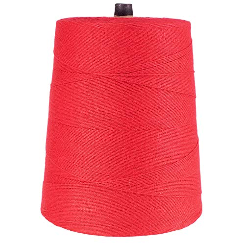 (Variegated 4-Ply Cotton and Polyester Bakery Wrapping Twine - 2lb Cone - All-Purpose String Kitchen Bakery Home Garden (Red))